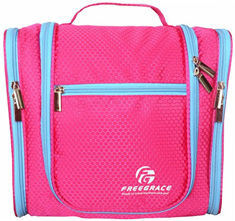 aaaf44f628 Premium Toiletry Bag By Freegrace Extra Large Travel Essentials Organizer  Durable Hanging ...