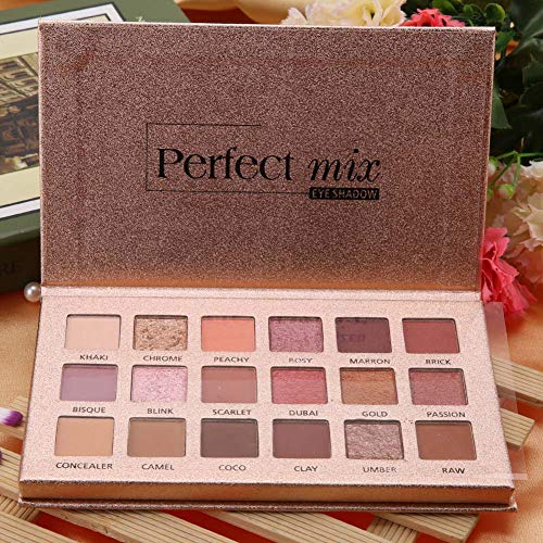 Glitter Matte Eye Shadow Powder Palette, 18 Shades Cosmetic Eye Beauty Powder Palette, Gorgeous Makeup Tool for Party Wedding Cosplay