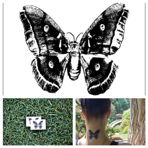 Tattify Moth Temporary Tattoo   Nabakov (Set Of 2)