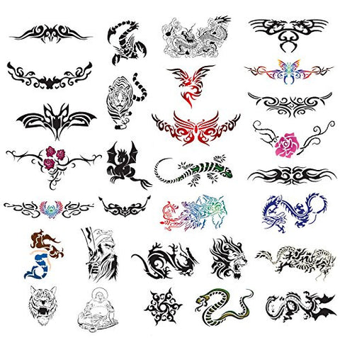 Point Zero Temporary Tattoo Airbrush Stencils 30 Designs   Book 5