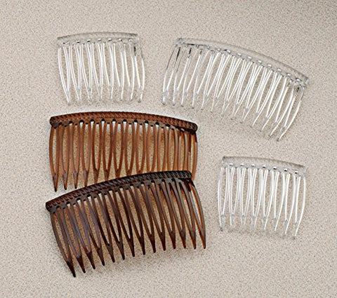 Good Hair Days Grip Tuth Hair Combs 40073 Set Of 2, Shell 1 1/2