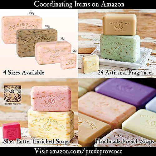 Pre De Provence Shea Butter Enriched Handmade French Soap Bar (150g)   Peony
