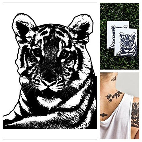 Tattify Animal Temporary Tattoo   Tiger Stripes (Set Of 2)