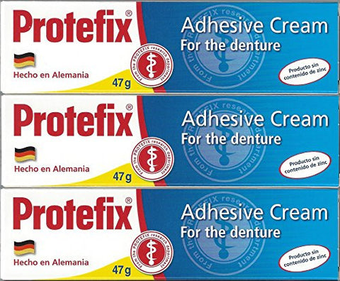 Protefix Adhesive Cream   Pack Of 3 X 47g/1.66oz