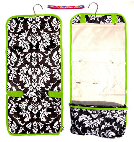 c6158291b1 Large Damask Trim Hanging Toiletries Cosmetic Makeup Travel Bag Case Shower  Caddy Junior Teen By Tra ...