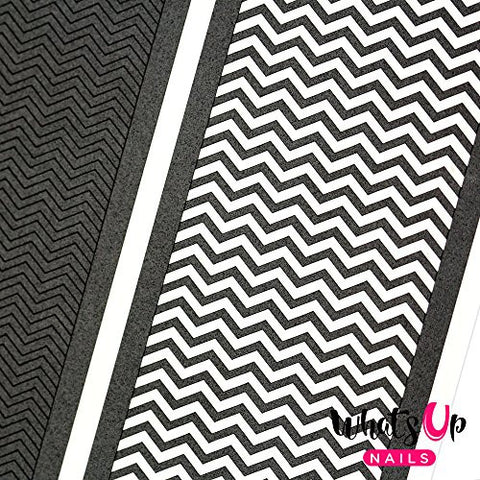 Whats Up Nails   Skinny Zig Zag Vinyl Tape Stencils For Nail Art Design (2 Sheets, 396 Strips Total)
