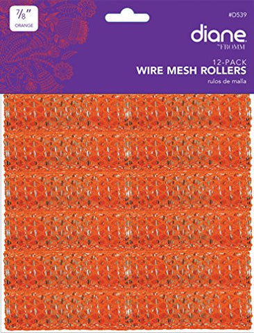 Diane Mesh Roller, Orange, 7/8 Inch, 12 Count