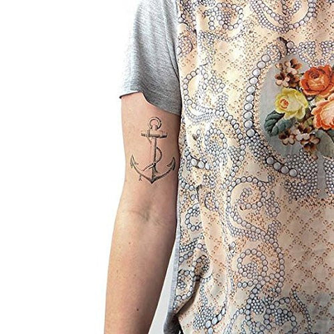 Tattify Vintage Anchor Temporary Tattoo   Submerged (Set Of 2)   Other Styles Available   Fashionabl