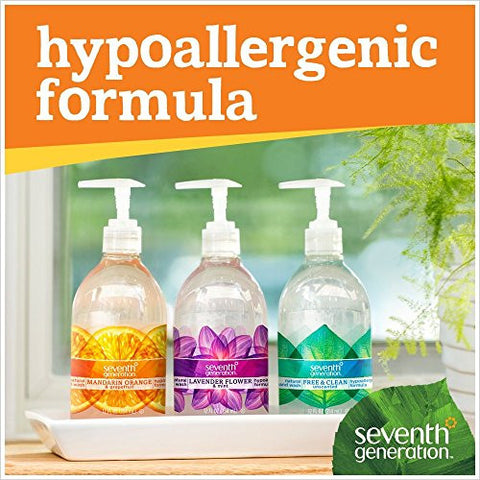 Seventh Generation Hand Wash, Lavender Flower And Mint, 12 Ounce (Pack Of 6)