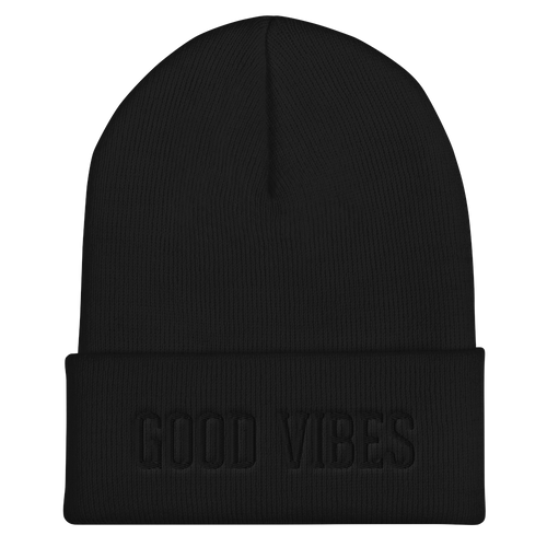 Good Vibes Blackout Edition Beanie