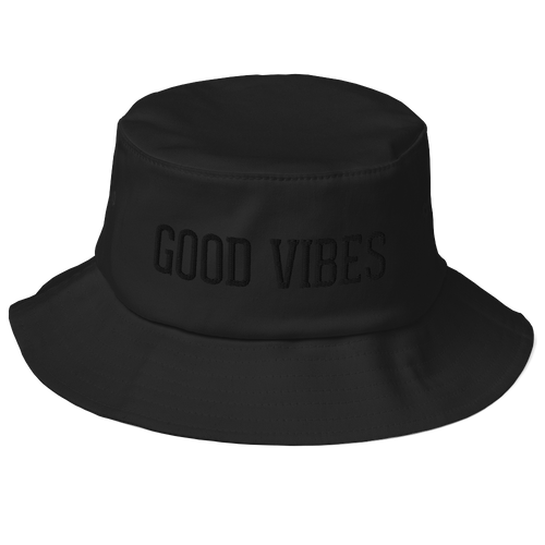 Good Vibes Blackout Edition Bucket Hat