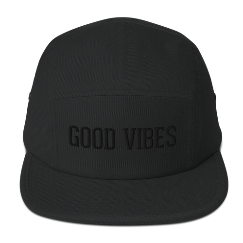 Good Vibes Blackout Edition 5 Panel Cap