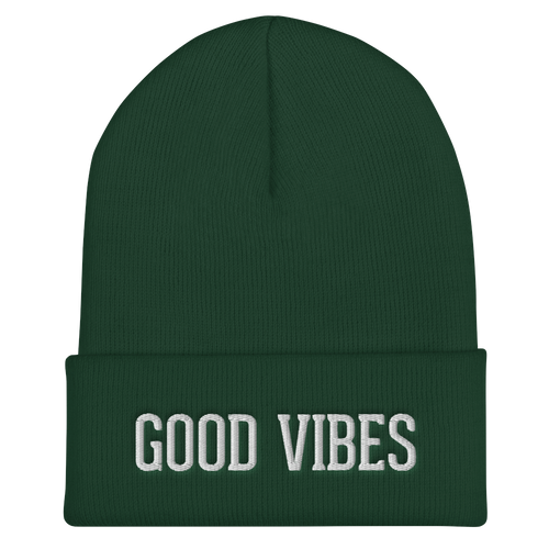 Good Vibes Cuffed Beanie