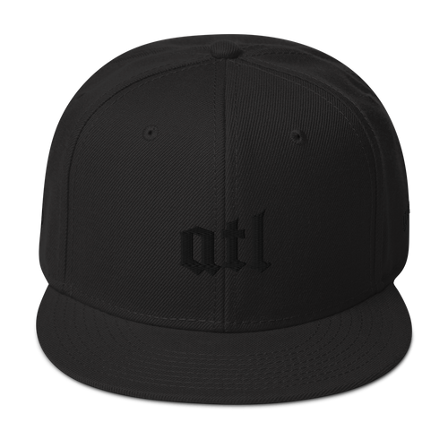 ATL Blackout Edition Snapback Hat