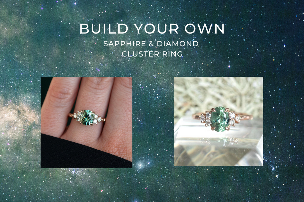 Build Your Own Sapphire & Diamond Cluster Ring