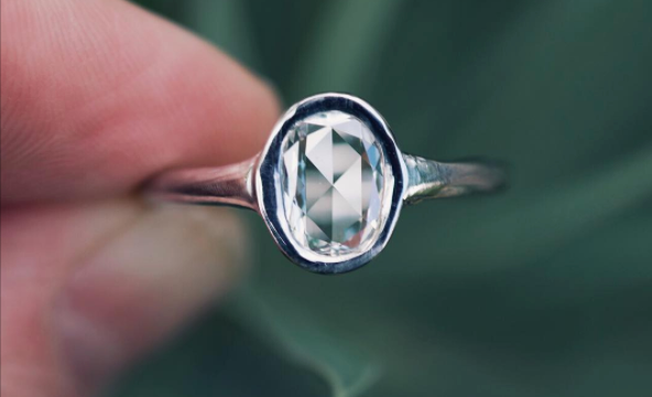Custom Rosecut Diamond Ring