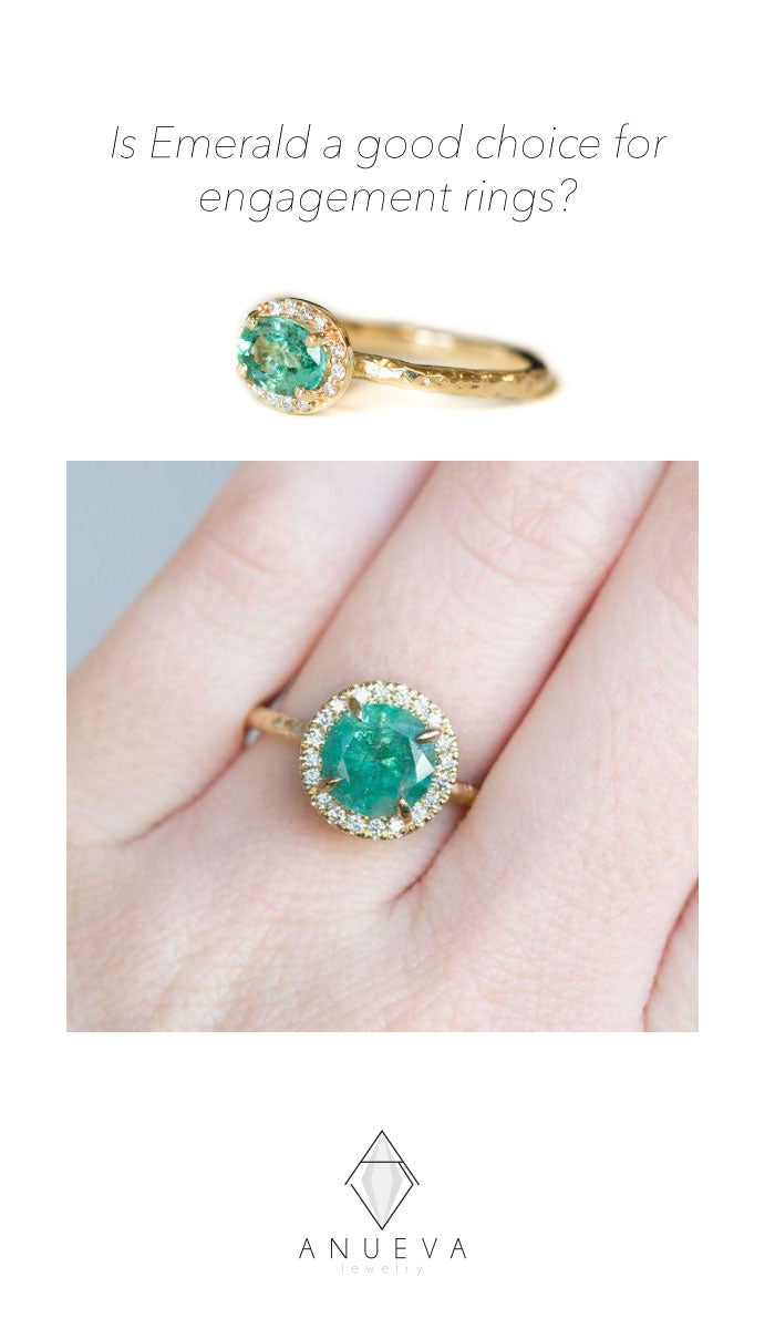 Emeralds for Engagement Rings Anueva Jewelry