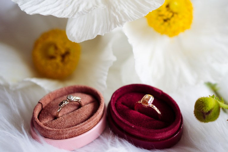 Rustic Diamond Rings by Anueva Jewelry