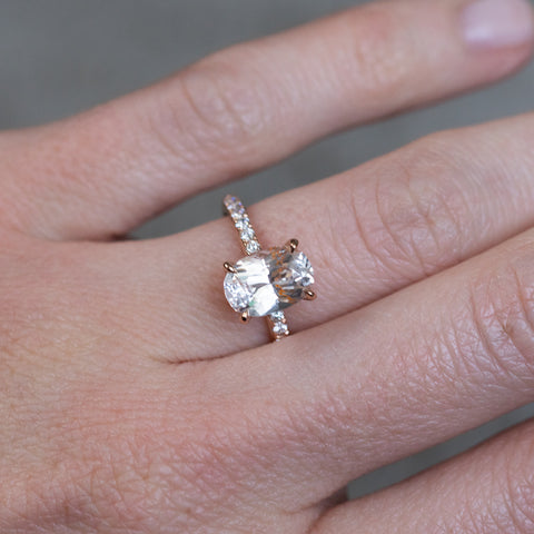 rose gold sapphire solitaire ring