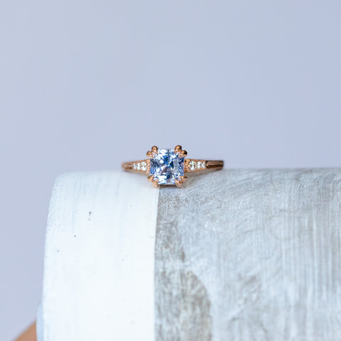 sapphire vintage cathedral ring
