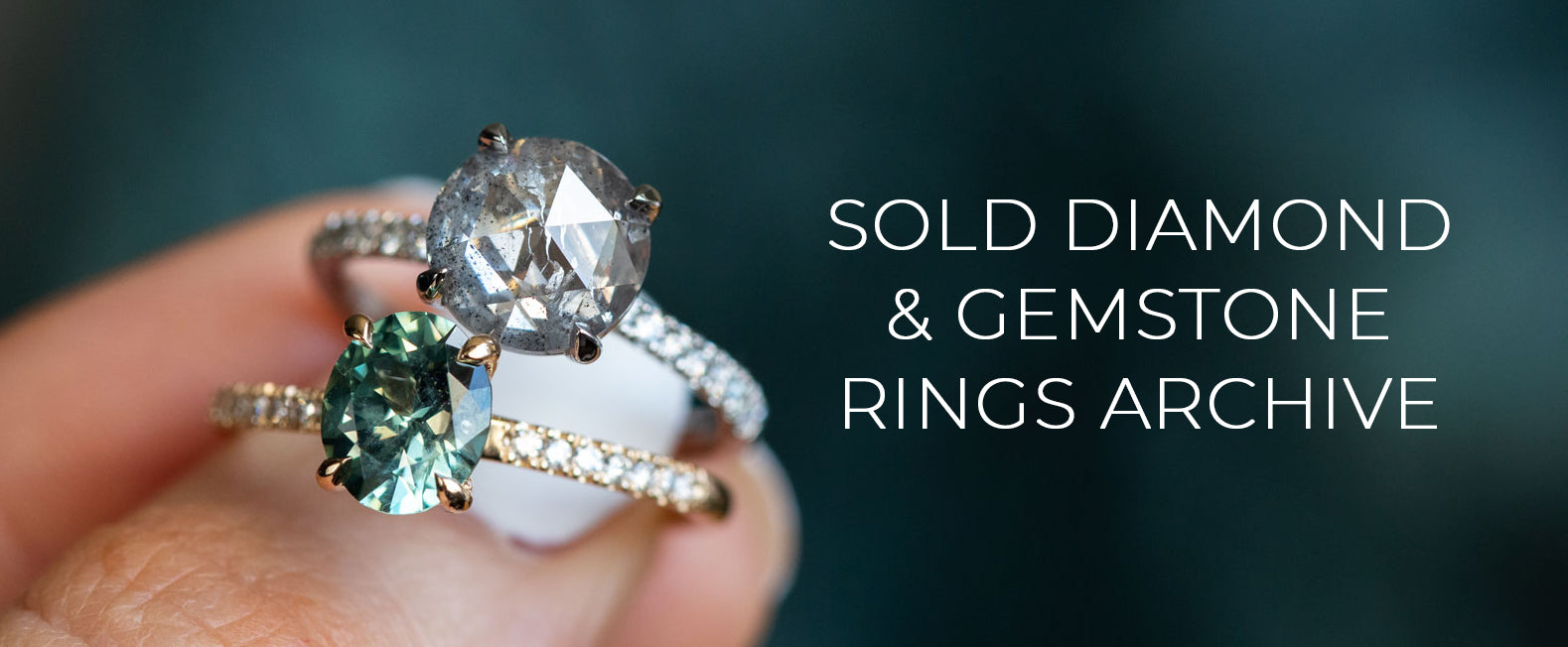 sold diamond and gemstone rings archive by anueva jewelry
