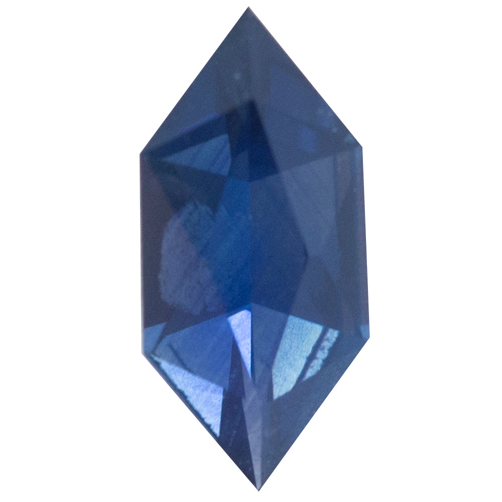 0.65CT GEOMETRIC SAPPHIRE, ROYAL BLUE, 9.12X4.22MM