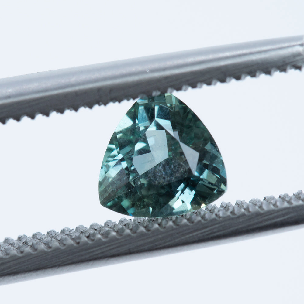 0.75CT TRILLION SAPPHIRE, TEAL GREEN, 5.9MM