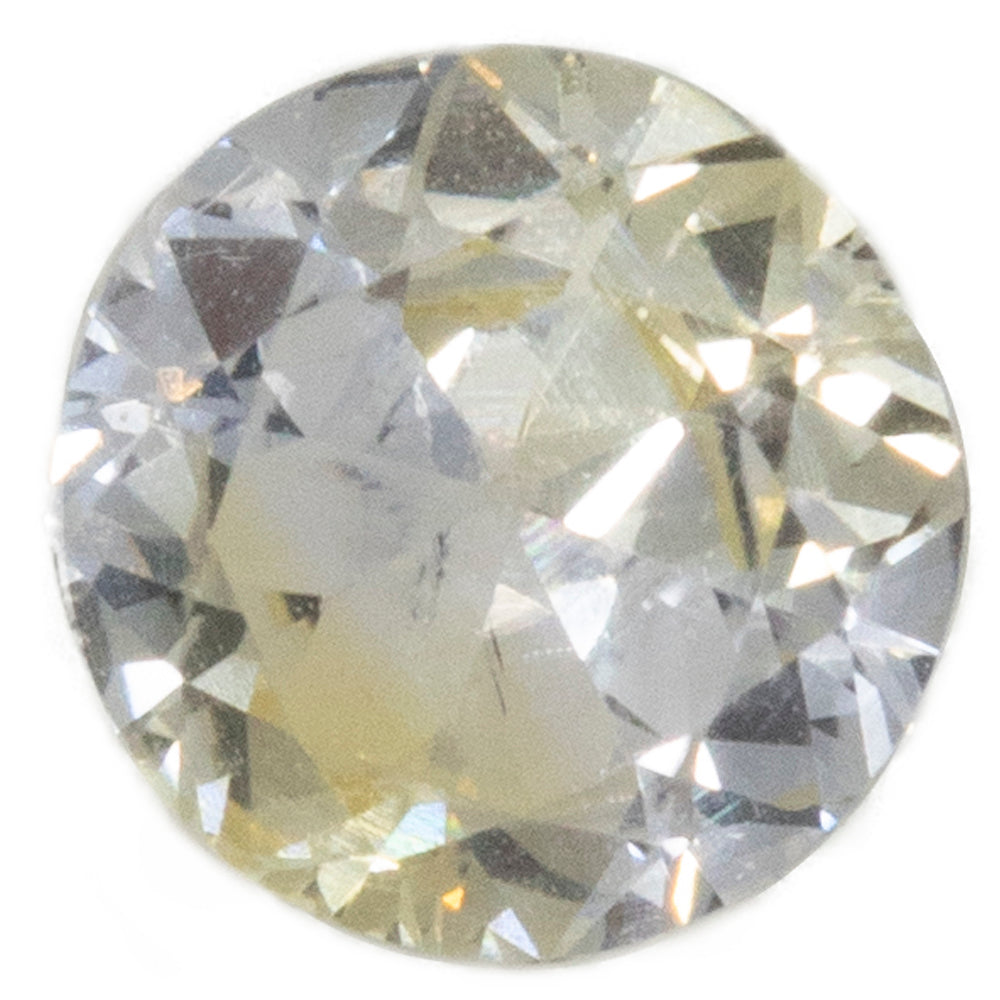0.78CT ROUND MONTANA SAPPHIRE, YELLOW WHITE PINK PARTI, UNHEATED, 5.69X3.10MM