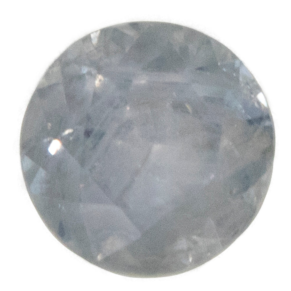 0.83CT ROUND MONTANA SAPPHIRE, GRAY PURPLE, UNTREATED, 5.58X3.49MM