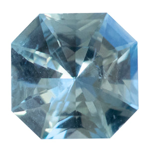 0.88CT SQUARE RADIANT MONTANA SAPPHIRE, LIGHT SKY BLUE, UNHEATED, 5.88X5.91MM