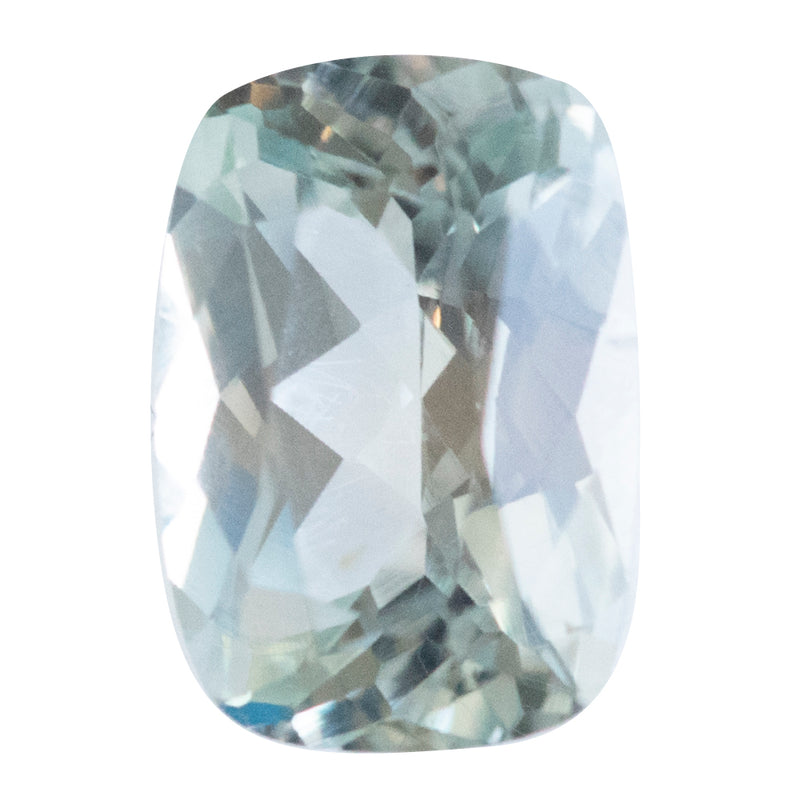 0.95CT RADIANT CUT MONTANA SAPPHIRE, PALE GREEN / GRAY, 6.8X4.7MM