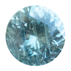 0.98CT ROUND MONTANA SAPPHIRE, GRAY / GREENISH, 6.03X3.70MM
