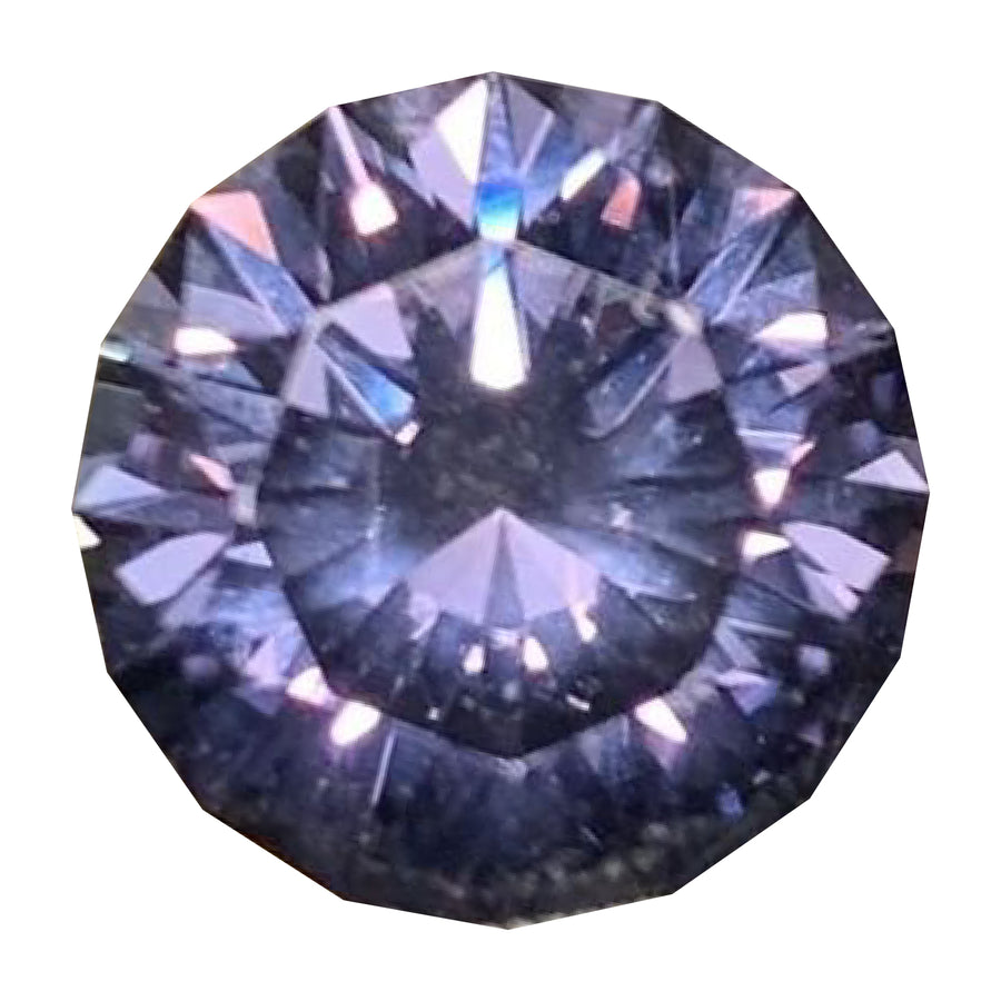 5.29CT ROUND MONTANA SAPPHIRE, STRONG COLOR SHIFTING PURPLE TO BLUE, UNHEATED 10.54MM X 6.79MM