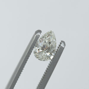 1.00CT PEAR SALT AND PEPPER DIAMOND, LIGHT SILVERY GREY, 8.6X5.3MM