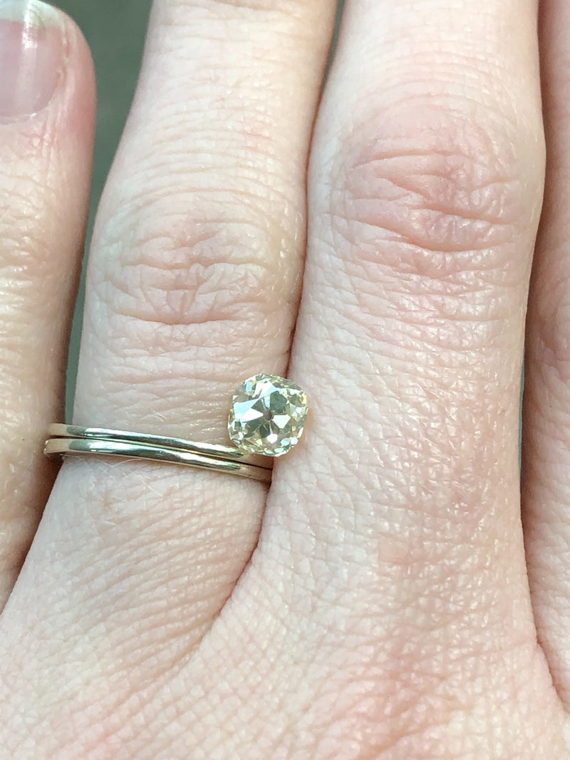 Custom Order-  1.01ct Antique Old Mine Cut Diamond - Reserved for A.T