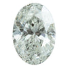 1.02CT OVAL SALT AND PEPEPR DIAMOND, LIGHT WARM SILVERY GREY, 7.8X5.5MM