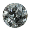 1.02CT ROUND GREY SALT AND PEPPER DIAMOND 6.25X4.44MM