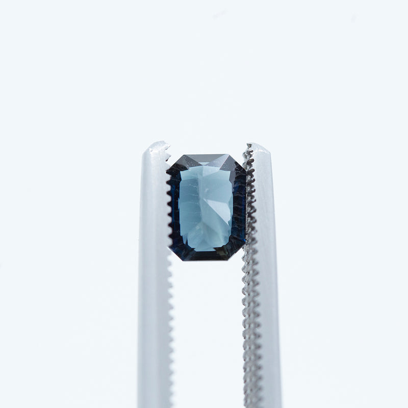 1.03CT EMERALD CUT SAPPHIRE, ROYAL BLUE, 6.52X4.78MM