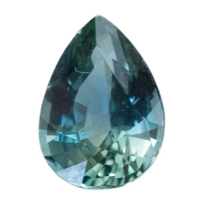 1.03CT MADAGASCAR PEAR SAPPHIRE, PARTI GREEN BLUE, UNHEATED, 7X5MM