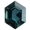 1.04CT HEXAGON MONTANA SAPPHIRE, TEAL BLUE GREEN, 6.9X5.7MM