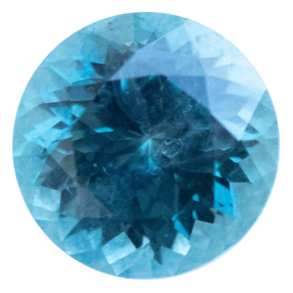 1.05CT ROUND MONTANA SAPPHIRE, DENIM BLUE TEAL, 6.01X4.03MM