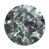 1.06CT ROUND GREY SALT AND PEPPER DIAMOND, 6.53X3.95MM