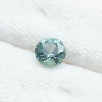 1.07CT ROUND MONTANA SAPPHIRE, GIA, MEDIUM GREENISH BLUE,  6.1X4.01MM