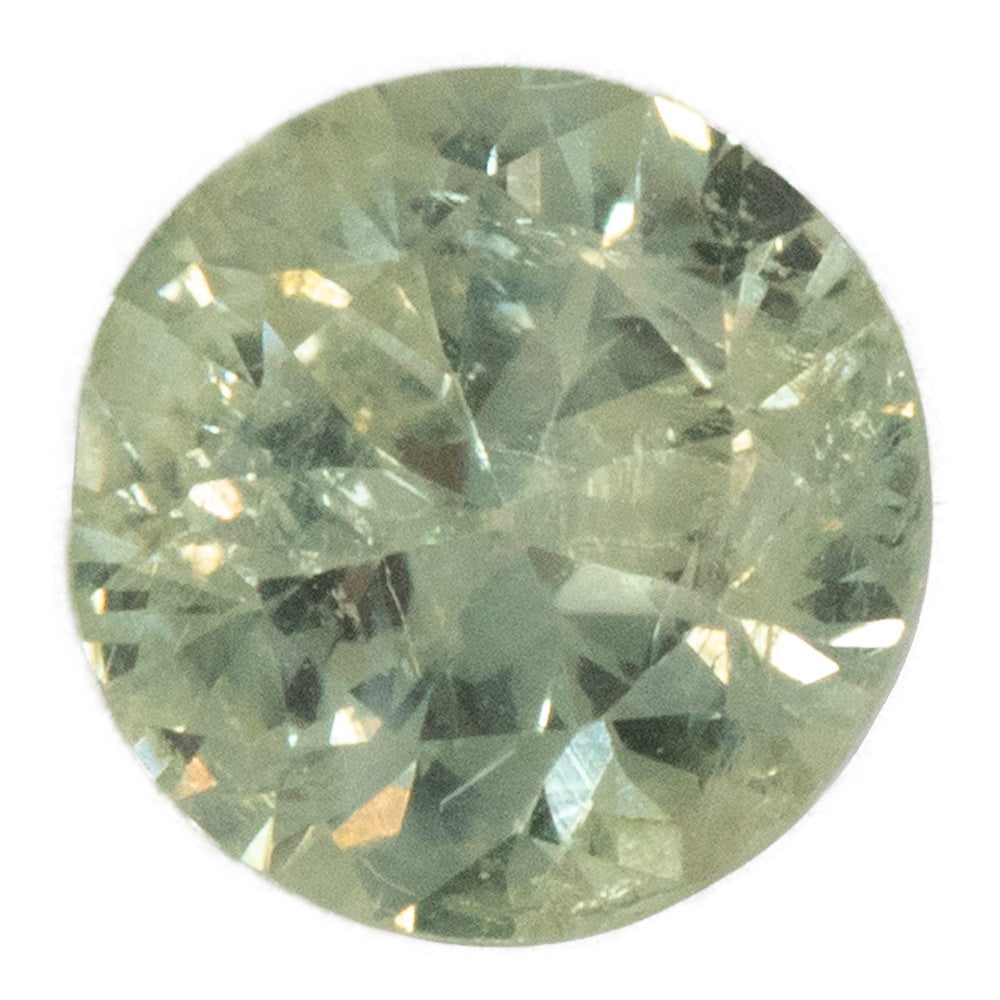 1.08CT ROUND MONTANA SAPPHIRE, MINTY GREEN BLUE YELLOW, UNHEATED, 6.26X3.74MM
