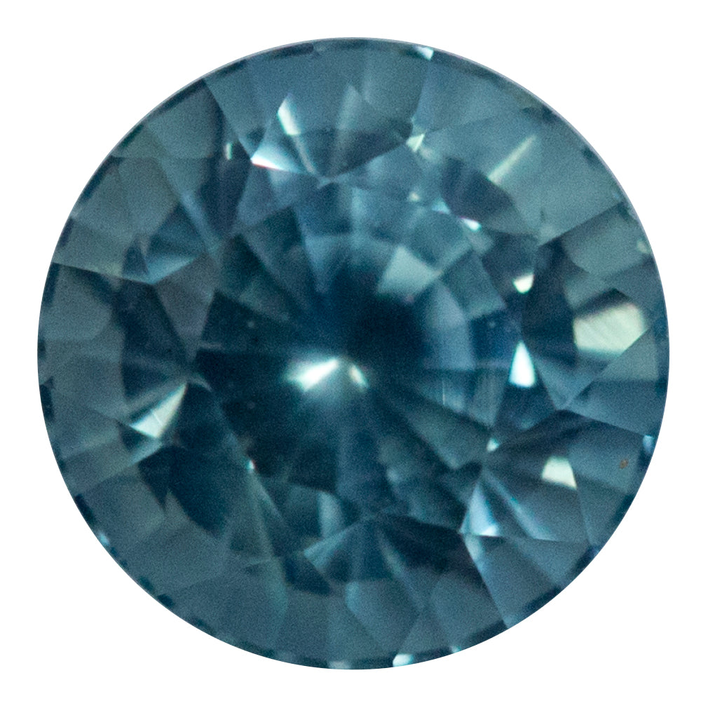 1.095CT MAMBILLA ROUND SAPPHIRE, SPARKLE CUT, TEAL MEDIUM BLUE, 5.5MM