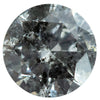 1.12CT ROUND SALT AND PEPPER DIAMOND, 6.76X3.95MM
