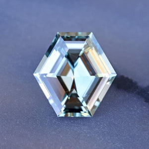Custom Order-  1.16ct Montana Hexagon Sapphire in Symmetrical Cluster Ring - Reserved for N.Y