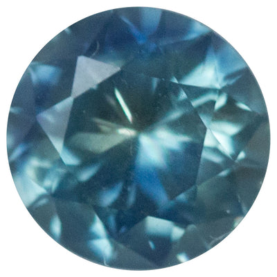 1.21CT ROUND TANZANIAN SAPPHIRE, TEAL BLUE GREEN, 6.54MM