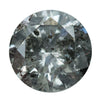 1.21CT ROUND SMOKEY GREY SALT AND PEPPER DIAMOND 6.76X3.95MM