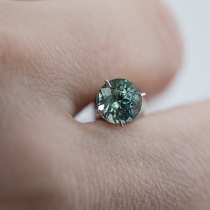 1.22CT ROUND MONTANA SAPPHIRE, MINT TEAL GREEN, UNTREATED, 6.1MM
